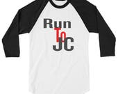 Run to JC Christian shirt, Jesus t-shirt, Faith t-shirt  3/4 sleeve raglan shirt  Christian t-shirts, gift