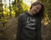 I love Jesus but still cuss a little Hoodie, Christian hoodie, Christian hoodies, Christian sweatshirt, christian hooded shirt. gift for her