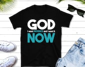 God, I want patience and I want if now!  Funny Christian t-shirt funny T-Shirt,  Jesus t-shirt, Christian gift,  bible verse t-shirt