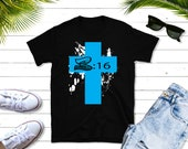 The Cross Short-Sleeve T-Shirt, Christian Inspirational Gift, Jesus shirt, great gift , john 316, Jesus t-shirt