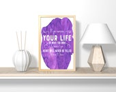 If you measure your life by what you own printable wall art, bible verse, nursery art, art print, bathroom wall art, bedroom wall decor,