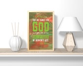 As long as you do things for God,digital download, gift for her, nursery decor, nursery wall art, printable art, printable wall art, bible