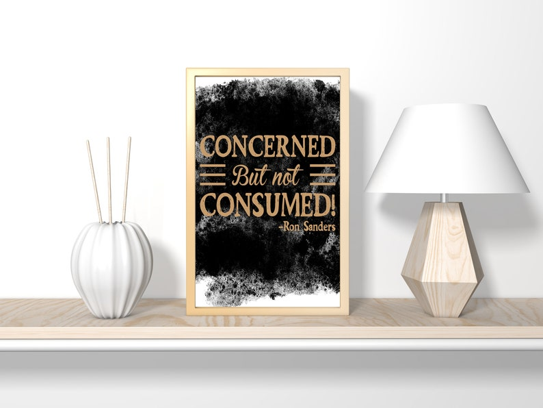 Concerned but not consumed Christian printable bible verse image 0