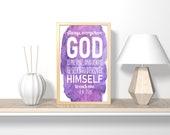 Always, everywhere God is present, digital download, gift for her, nursery decor, nursery wall art, printable wall art, bible verse