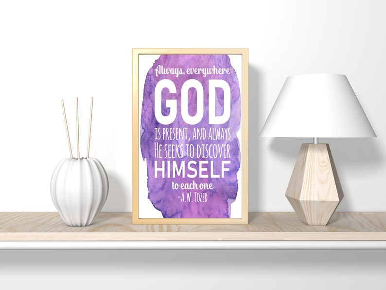 Always everywhere God is present digital download gift for image 0