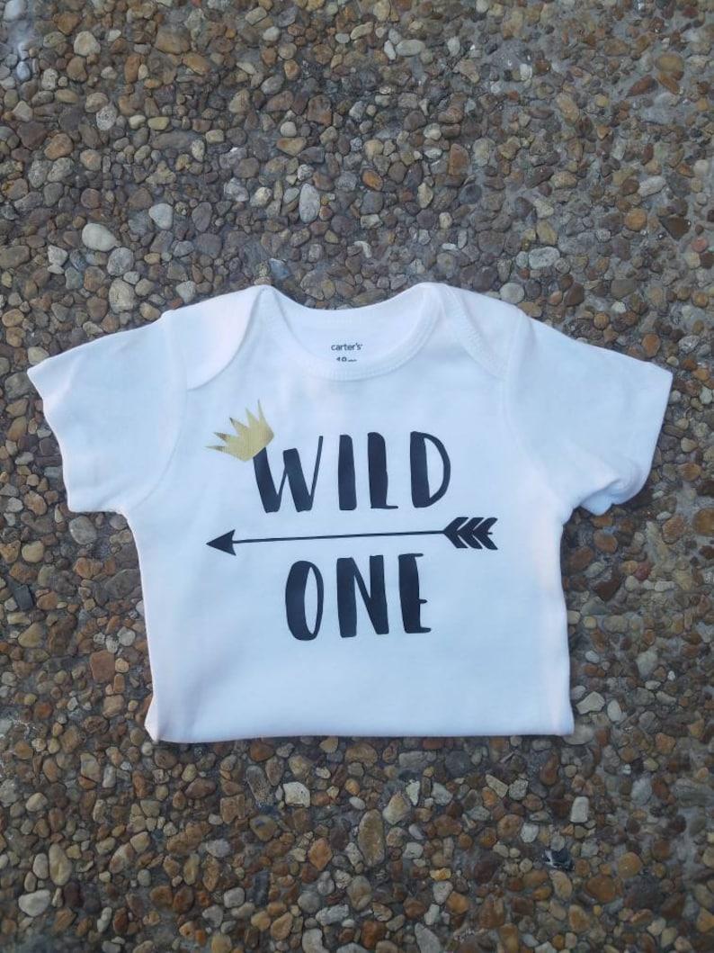 7977e10d Wild One 1st Birthday Birthday Outfit First Birthday Wild   Etsy