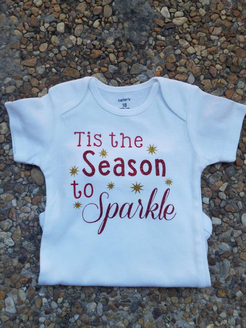 52f246091979 Tis the Season to Sparkle Christmas Holiday Baby Outfits | Etsy