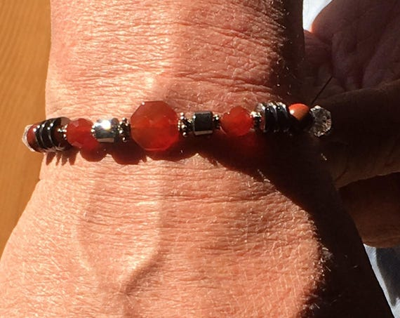 GROUNDING AND CENTERING Men's and Women's Bracelets  Chakra balancing, Sedona & Reiki charged Metaphysical Healing Jewelry Power Protection