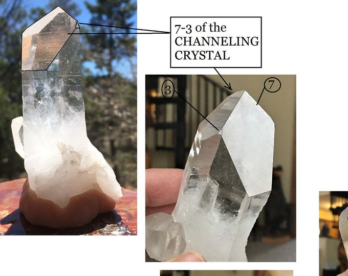 STANDING Clear Lemurian CHANNELING RECEIVER Abundance Key Quartz Crystal Sedona & Reiki Charged for Focus, Intuition, Joy, Abundance