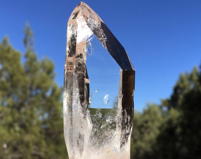 CLEAR Lemurian RECEIVER Devic Temple (Diva) RAINBOW Key Quartz Crystal Sedona & Reiki Charged Clarity Focus Intuition Joy Healer Crystal