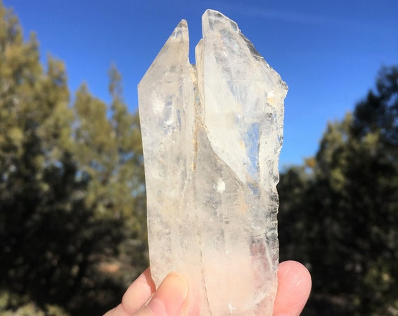 RARE Growth Interference DEVIC TEMPLE Record Keeper Starbrary Crystal Sedona & Reiki Charged Clear Metaphysical, for Growth and Protection