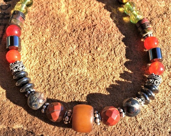 Men's OVERALL PHYSICAL HEALTH necklace, Sedona & Reiki charged, Metaphysical Masculine choker Necklace for Health and Protection Negativity