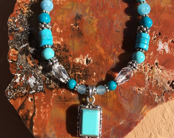 SPEAK FROM the HEART Sleeping Beauty Turquoise, December birthstone Sedona & Reiki Charged Communication Metaphysical Protection Jewelry