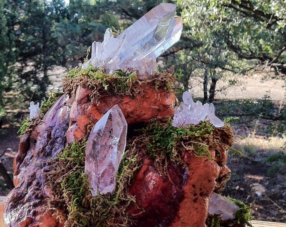 5 SOULMATE RELATIONSHIP Cluster Crystals on Display Laser Wand Rainbow Diplay Sedona & Reiki charged for Relationship Strength Harmony