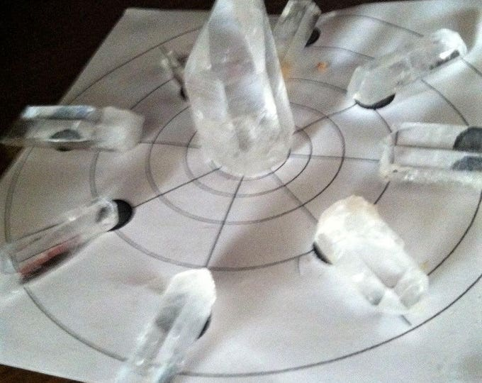 CRYSTAL Points, Sedona, Points for Grids, Crystal Grids, Metaphysical, Healing crystals, Sedona and Reiki Charged, Meditation, Protection,