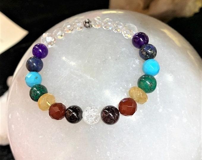 Full Chakra Rainbow, 7 chakra balancing, Yoga, Metaphysical, Sedona, Vortex charged, Affirmation, Sedona Jewelry