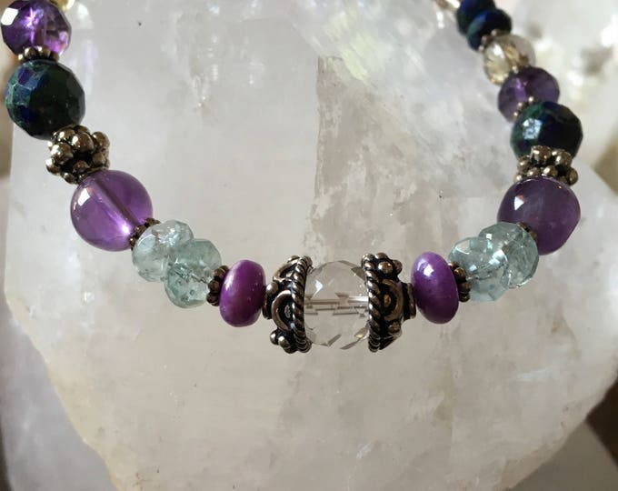 PSYCHIC ENHANCEMENT necklace bracelet Matching Parent Child Psychic Energy Sedona Reiki Charged Psychic Connection Higher Wisdom Protection
