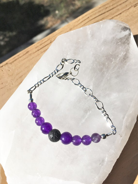 Aroma Theraphy Bracelets, Amethyst or Adventurine, Sedona & Reiki Charged, Metaphysical Healing Jewelry, Mother Daughter matching bracelets