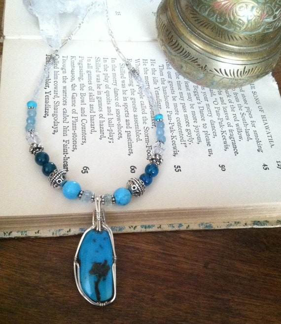 SPEAK FROM the HEART, Sleeping Beauty Turquoise, Chakra balancing, December birthstone, Sedona, Reiki, Communication, Turquoise pendant