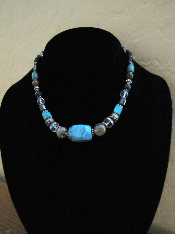 SHAMAN'S POWER w/Turquoise pendant bead, Healing, Sedona Jewelry, Charged,  December Birthstone,  Zodiac Stone Aquarius, Sagittarius &Taurus