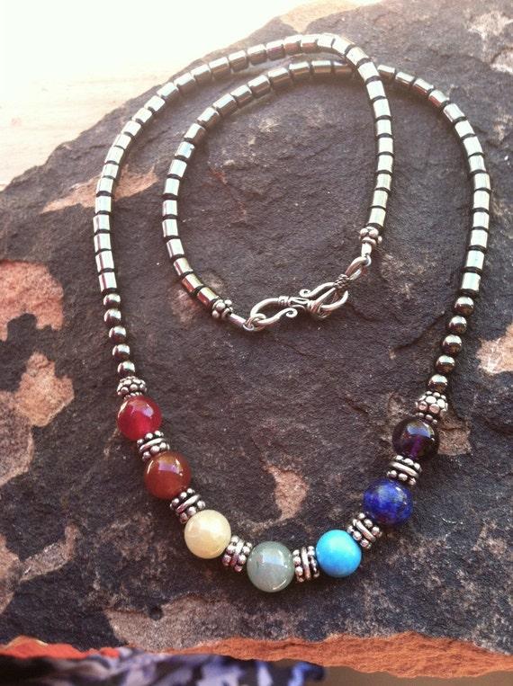 Full Chakra Rainbow necklace, 7 Chakra Necklace, Chakra Balancing Jewelry, Sedona Charged, Reiki charged, Healing Jewelry, Chakras