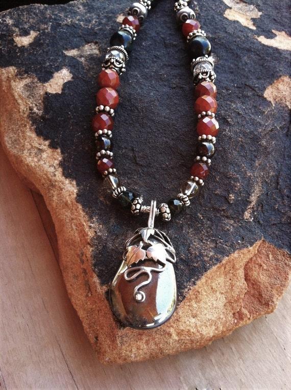 Grounding and Centering, Hematite pendant, Chakra balancing, Sedona, Metaphysical Healing, Yoga, Sedona Jewelry, Charged, Power necklace