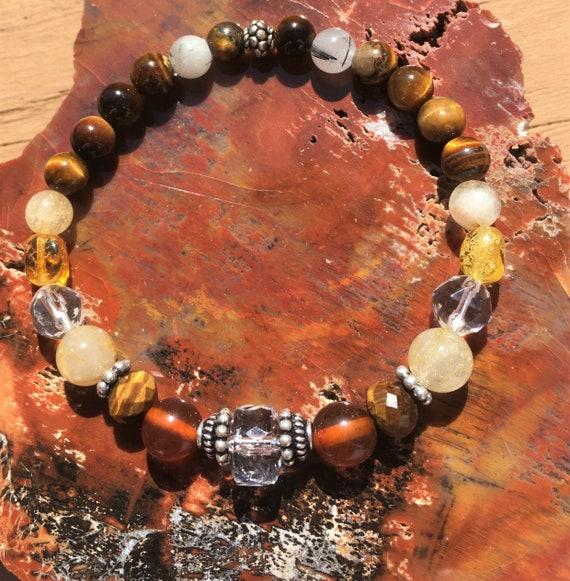 PERSONAL POWER Bracelet for Self-Confidence Sedona & Reiki charged, Chakra Balance Metaphysical Jewelry Confidence Abundance rids Negativity