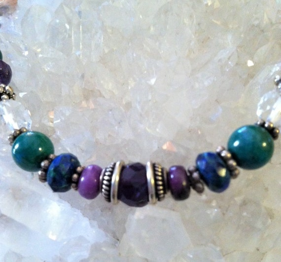 THIRD EYE AWAKENING necklace, Third Eye Chakra Sedona & Reiki Charged Amethyst February Birthstone, Psychic Protection and Enchancement
