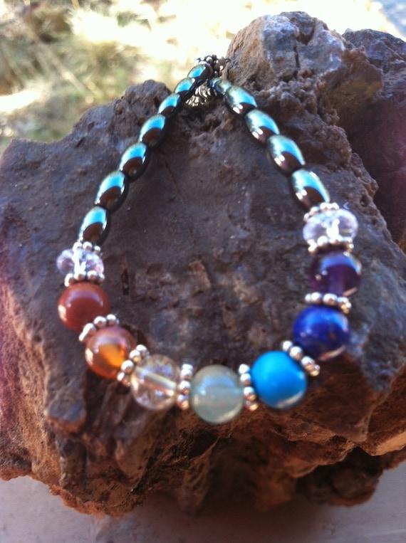 Full Chakra Rainbow, Mommy and Me, Mother Daughter matching bracelets, 7 chakra balancing, Yoga,  Sedona, Vortex charged,, Sedona Jewelry,