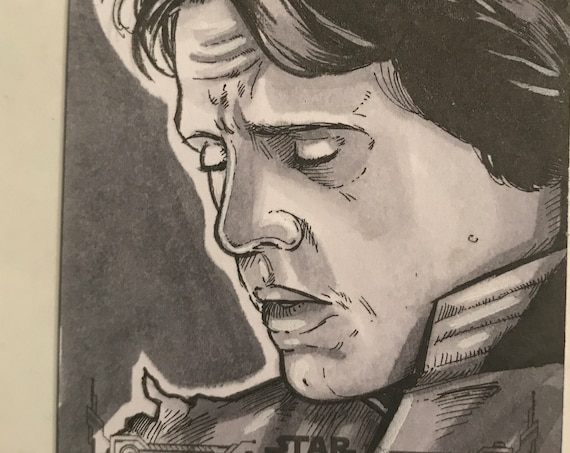 Empire Strikes Back Black and White Artist Return: Luke Skywalker