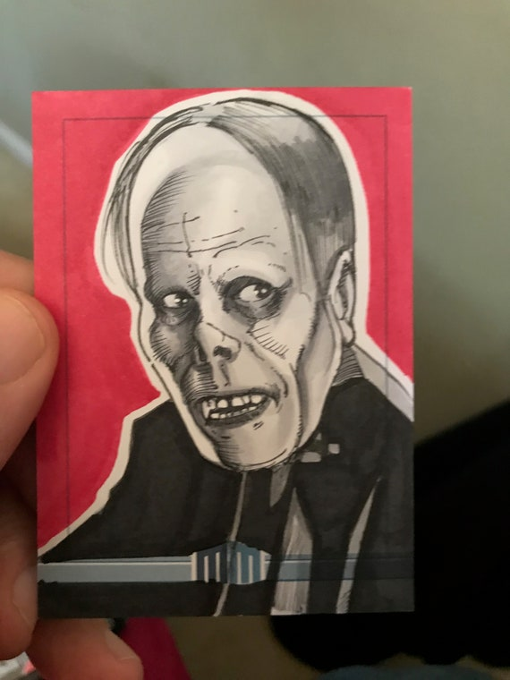 Universal Monsters Phantom of the Opera Sketch Card