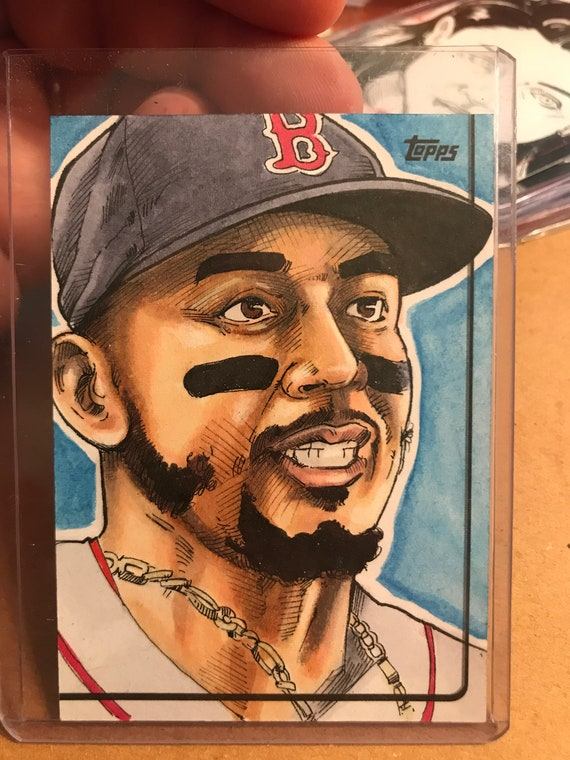 Topps Sketch Card: Mookie Betts 2019 MLB card