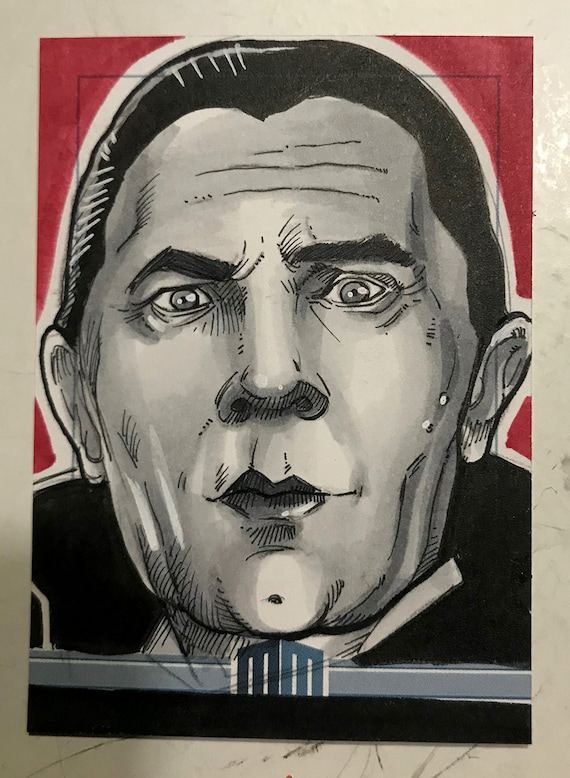 Universal Monsters Dracula Sketch Card