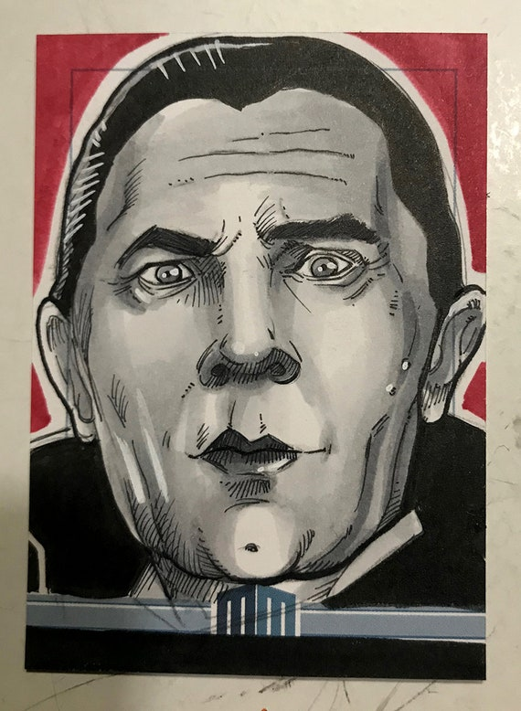 Universal Monsters Dracula Sketch Card