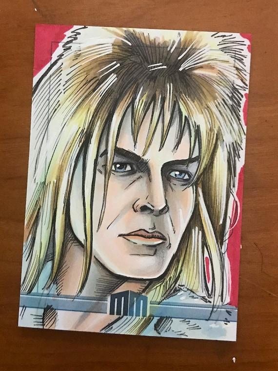 Sketch Card: Jareth, David Bowie from Labyrinth