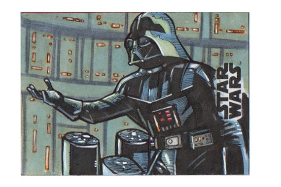 Star Wars Galaxy 2018 Artist Return Sketch Card- Darth Vader