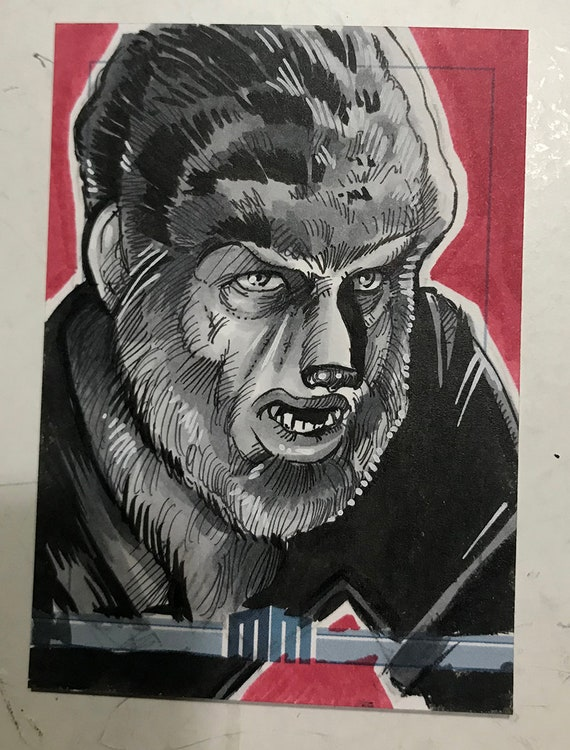 Universal Monsters Wolfman Sketch Card