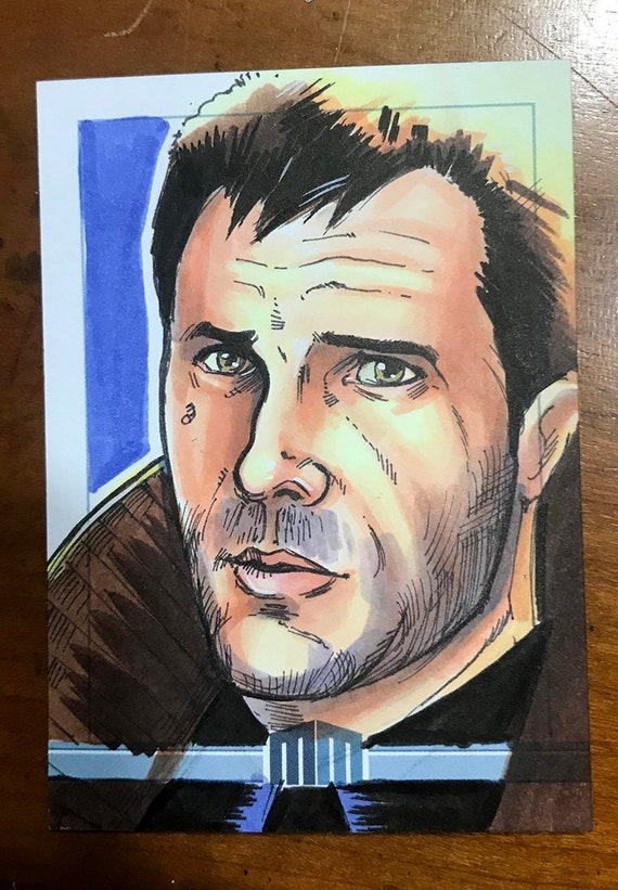 Sketch Card: Rick Deckard from Bladerunner