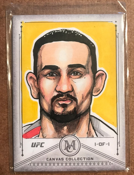 Topps Sketch Card 2019 UFC Museum Canvas Collection: Max Holloway