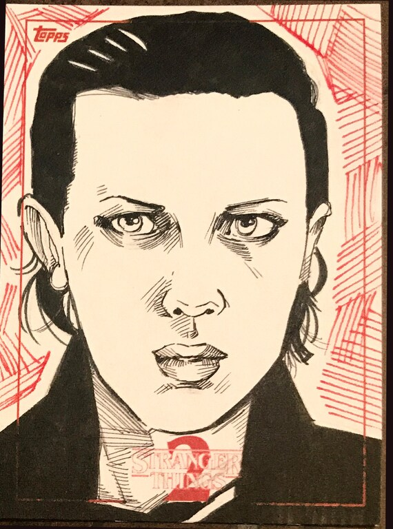 Topps Stranger Things Season 2 Sketch Card: Eleven