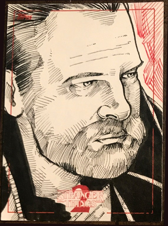 Topps Stranger Things Season 2 Sketch Card: Hopper