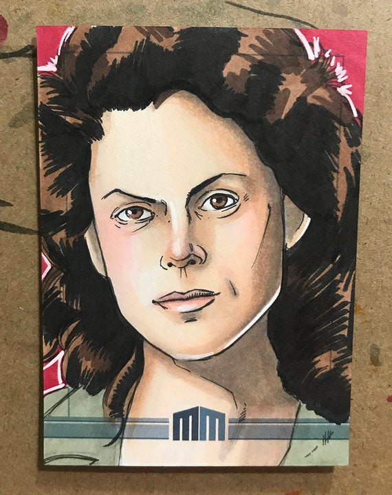 Sketch Card: Ripley from Aliens