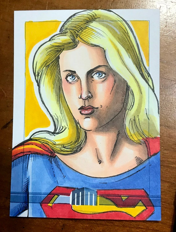 Sketch Card: Super Girl Helen Slater