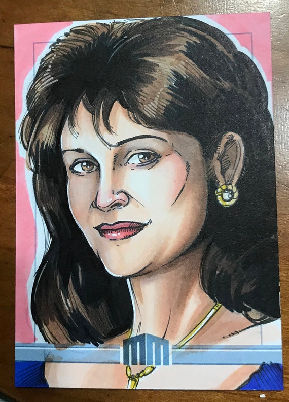 Sketch Card: Miss Elizabeth from the WWF