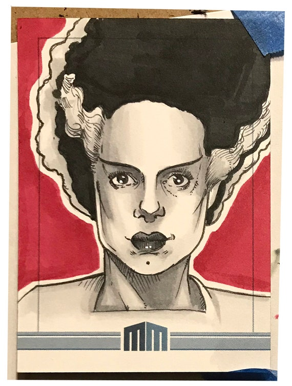 Universal Monsters Bride of Frankenstein Sketch Card