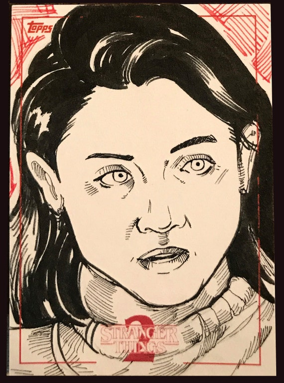 Topps Stranger Things Season 2 Sketch Card: Nancy Wheeler