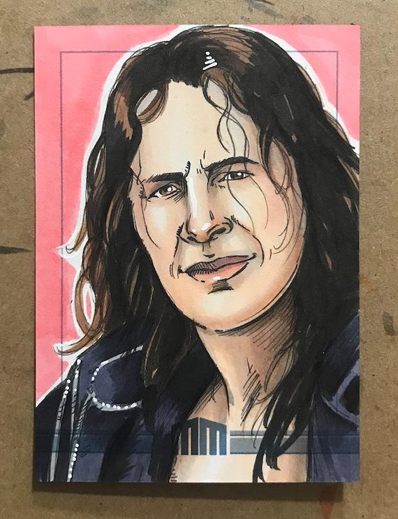 "Sketch Card: Brett ""The Hitman"" Hart"