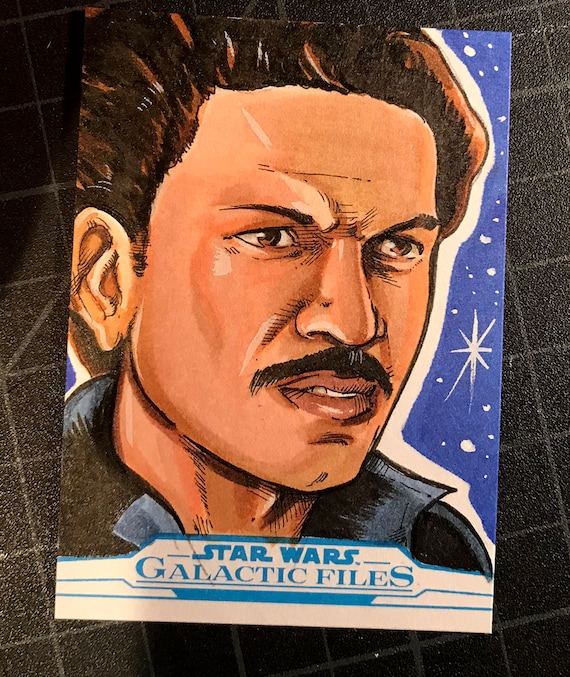 Star Wars Galactic Files Artist Return Sketch Card- Lando Calrissian