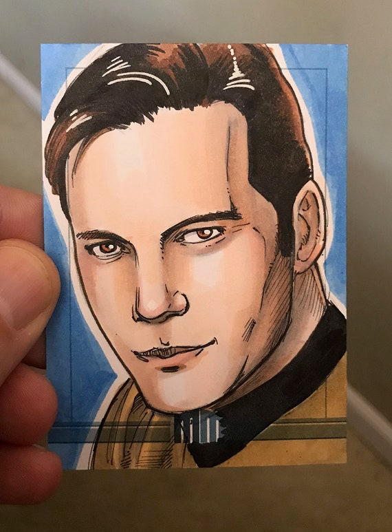 Sketch Card: Captain Kirk