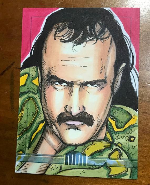 "Sketch Card: Jake ""The Snake"" Roberts"